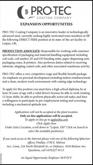 Production Associate