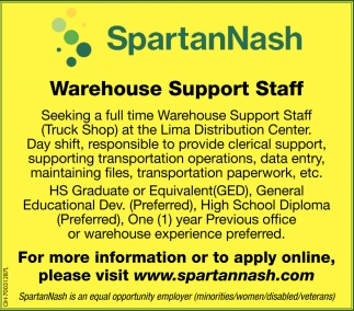 Warehouse Support Staff