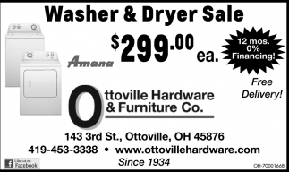 Washer and dryer sale