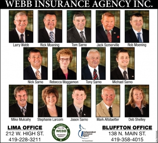 Lima & Bluffton Offices