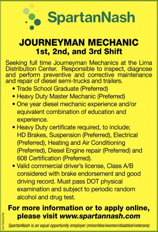 Journeyman Mechanic