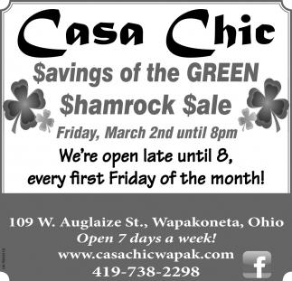 Shamrock Sale