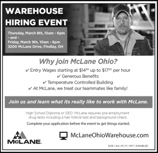Warehouse hiring event