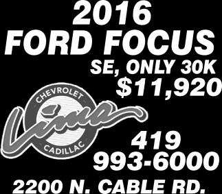 2016 FORD FOCUS ONLY 30K