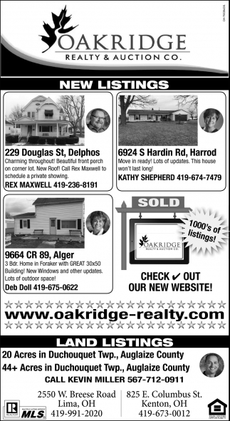 New Listings / Land Listings