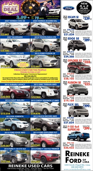 2.99% APR financing up to 75mos on every pre-owned vehicle in stock