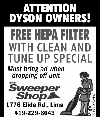 Dyson Owners: Free HEPA Filter