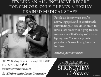 Springview Manor is a premier provider of Senior Living Services in Lima