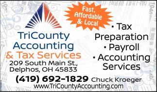Tax Preparation, Payroll, Accounting Services