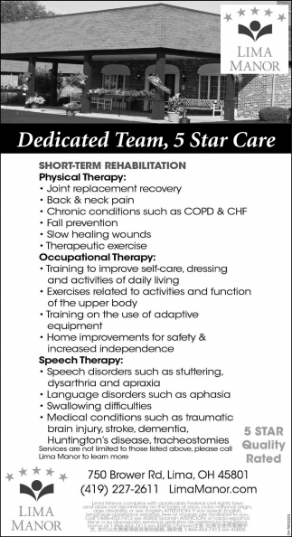 Dedicated Team, 5 Star Care