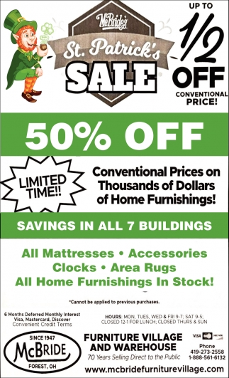 St. Patrick's Sale 1/2 off