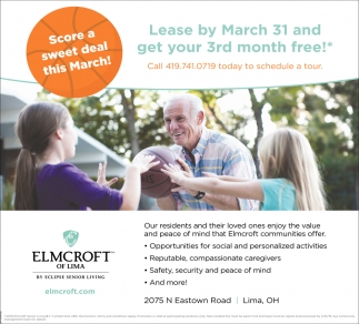 Lease by March 31 and get your 3rd month free