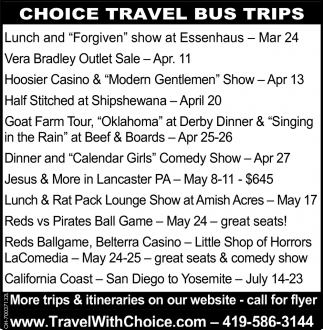 Choice Travel Bus Trips