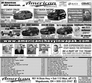 Be American. Buy American at American Wapakoneta