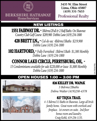 New Listings / Open Houses