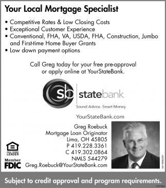 Call Greg today for your free pre-approval