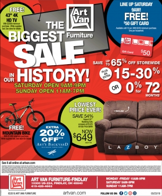 The Biggest Furniture Sale in our History!