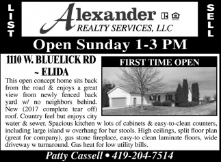 1110 W. Bluelick Rd. Elida