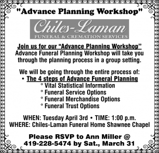 Advance Planning Workshop