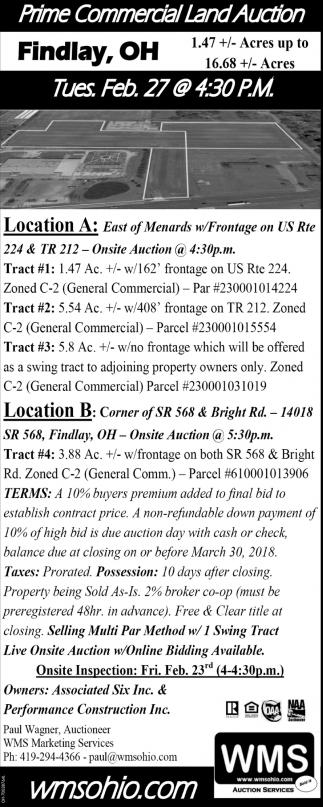 Prime Commercial Land Auction