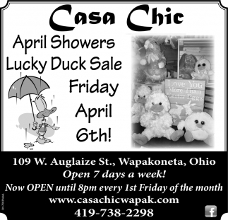 April Showers Lucky Duck Sale Friday