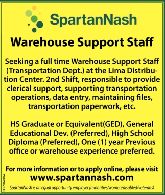 Warehuse Support Staff