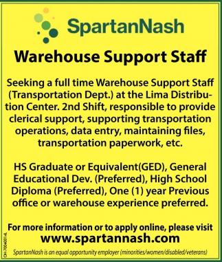 Warehuse Support Staff