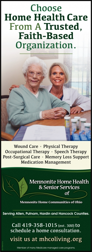 Wound Care, Physical Therapy, Occupational Therapy, Speech Therapy