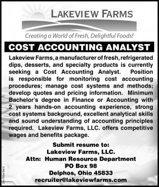 Cost Accounting Analyst