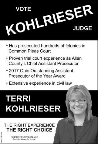 Vote Terri Kohlrieser Judge