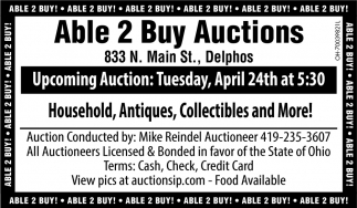 Household, Antiques, Collectibles and More!