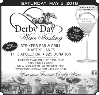 Derby Day Wine Tasting