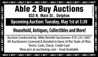 Household, Antiques, Collectibles and More