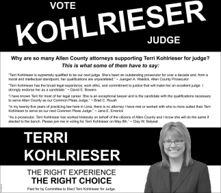 Vote Terri Kohlrieser Judge