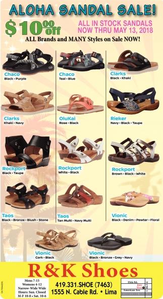 Aloha Sandal Sale!