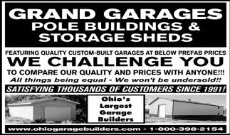Quality custom built garages at below prefab prices