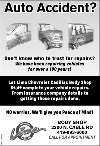 Lima Chevrolet Cadillac Body Shop