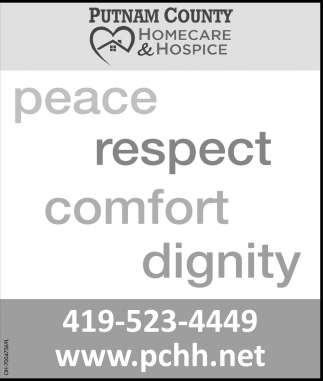 Peace, respect, comfort, dignity