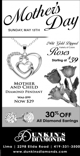 30% off all diamond earings