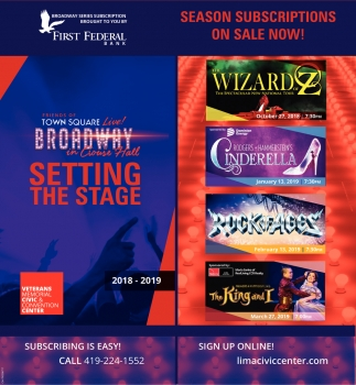 Season subscriptions on sale now!
