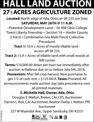 Hall Land Auction