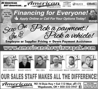 Financing for everyone!