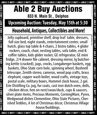 Household, Antiques, Collectibles