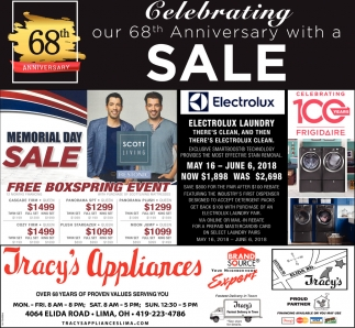 68th Anniversary with a Sale