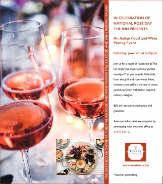 An Italian Food and Wine Pairing Event