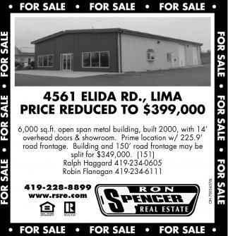 4561 Elida Rd., Lima