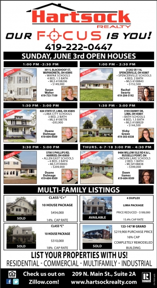 Sunday, June 3rd Open Houses