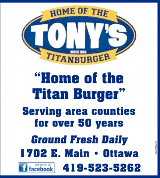 Home of the Titan Burger