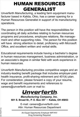 Human Resources Generalist