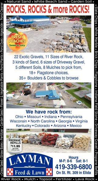 Rocks, rocks & more rocks